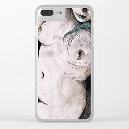 Rotten Apple (nude topless girl, erotic graffiti portrait) Clear iPhone Case