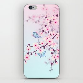 Cherry Blossoms Landscape iPhone Skin