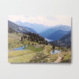 Love hiking in the Pyrenees Metal Print