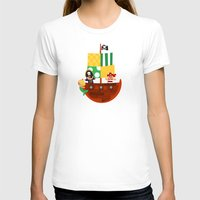 pirate ship T-shirts featuring pirate ship by Alapapaju