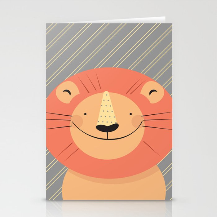 Cute Lion Stationery Cards