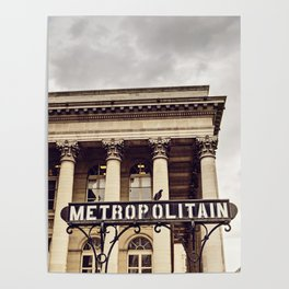 Metropolitain - Paris Metro Sign Poster