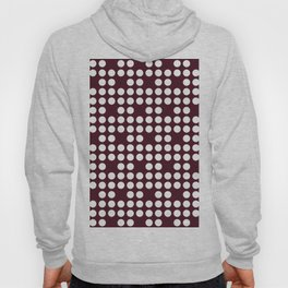 White dots on burgundy red Hoody