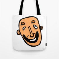 dave matthews Tote Bags featuring Drunken Dave by crapAdoodle