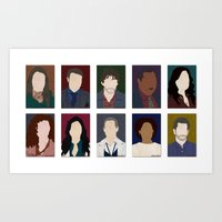 hannibal Art Prints featuring Hannibal by Moonblossom