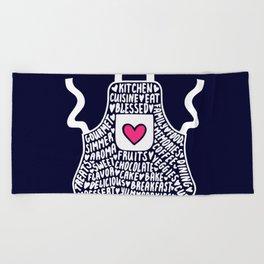 APRON LOVE Beach Towel