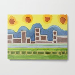 Surreal Simplified Cityscape Metal Print
