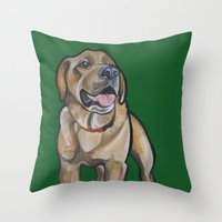 harry Throw Pillows featuring Harry by Pawblo Picasso