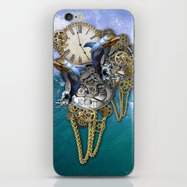 Steampunk Dolphin Time iPhone Skin