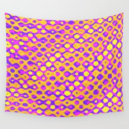 Brain Coral Pink Banded Cross Small Polyps - Coral Reef Series 029 Wall Tapestry