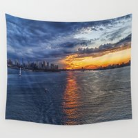 sydney Wall Tapestries featuring Sydney Harbor by Imagevixen