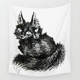 Siamese Foxes Wall Tapestry
