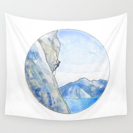 Rock Climbing Wall Tapestry