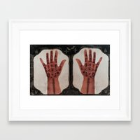 evil eye Framed Art Prints featuring Evil Eye by Tala Wakanda