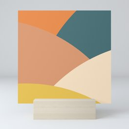 Mountains abstract (autumn morning) Mini Art Print