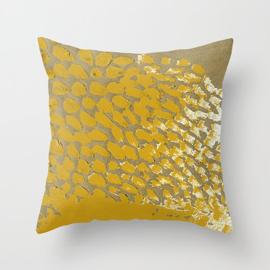 GOLD NO.4 Throw Pillow