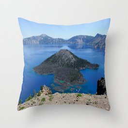 Crater Lake Volcanic Crater Oregon USA Throw Pillow