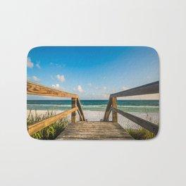 Head to the Beach - Boardwalk Leads to Summer Fun in Florida Bath Mat