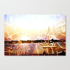Boats and Lights Canvas Print