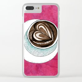 Latte Clear iPhone Case