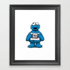 Free cookies Framed Art Print