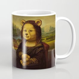 Mona Lisa Bear Coffee Mug