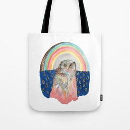 Rainbow Owl with Cloak Tote Bag