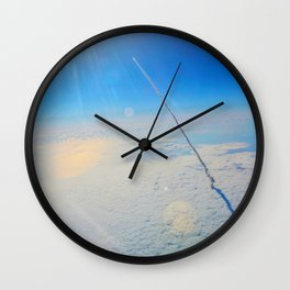 Large Endeavour's Final Voyage To Space, galaxy, world, flight, Print Poster Art Wall Clock