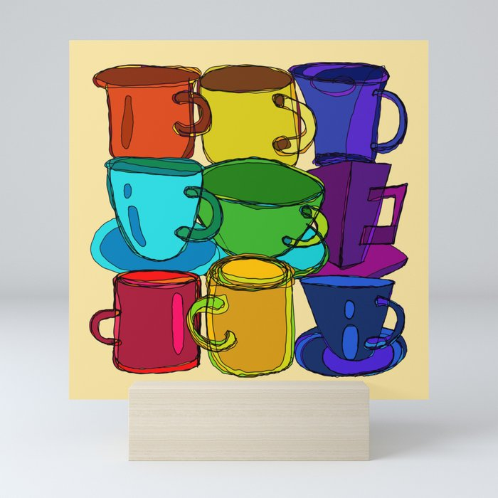 Tea Cups and Coffee Mugs Spectrum Mini Art Print