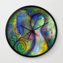 """A Perfect Day"" | original painting by Mimi Bondi Wall Clock"