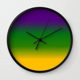 Mardi Gras Gradient 3597 Wall Clock