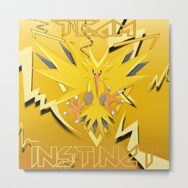 TEAM INSTINCT Metal Print