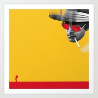 hunter s thompson Art Prints featuring Hunter S. Thompson by Zmudartist