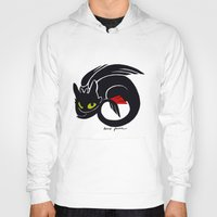 toothless Hoodies featuring Toothless by Annie Pollock