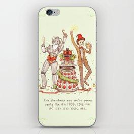 A Wibbly Wobbly Timey Wimey Christmas! iPhone Skin
