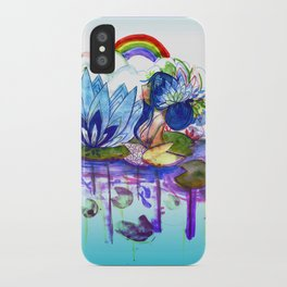 The blue lily water iPhone Case