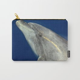 Making friends with a bottlenose dolphin Carry-All Pouch