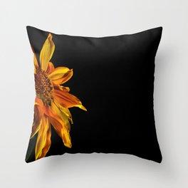 Hot sunflower Throw Pillow