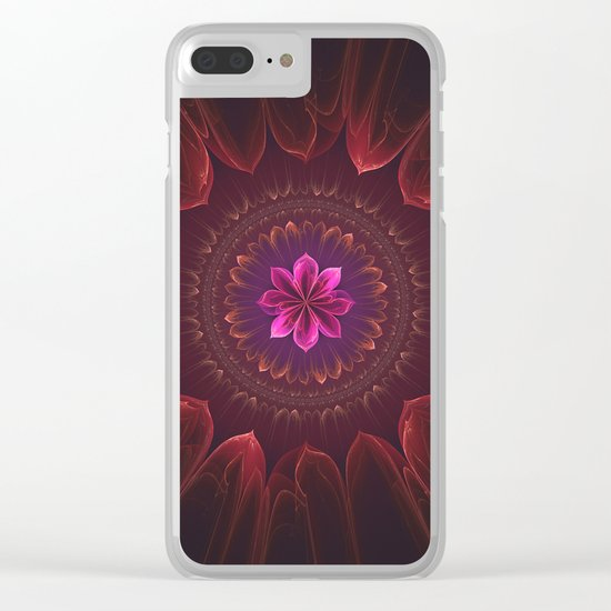 Blossom Within in Red Clear iPhone Case