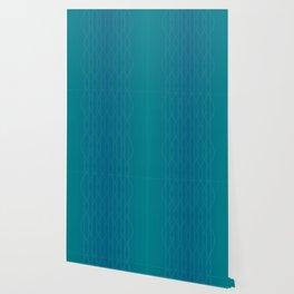 Wave pattern in teal Wallpaper