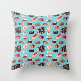 Doughnut Like Sushi Throw Pillow
