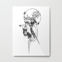 Major Arcana IX The Hermit Metal Print