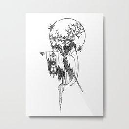 Major Arcana IX The Hermit Metal Print