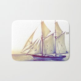 Afternoon Sail Bath Mat