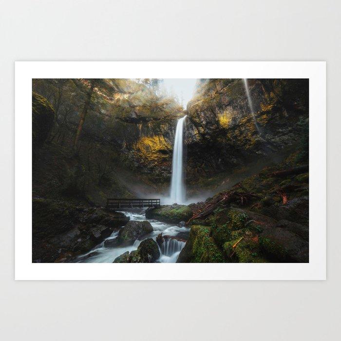 Elowah Falls Art Print