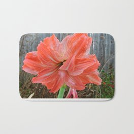 Full Frontal Flower with Fence Bath Mat