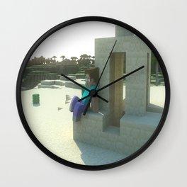 M I N E C R A F T Steve's desert Wall Clock
