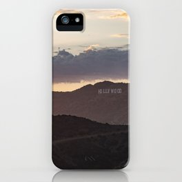 Hollywood Sign at Magic Hour iPhone Case