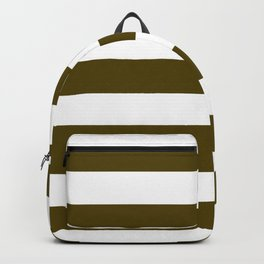Dark bronze (Coin) - solid color - white stripes pattern Backpack