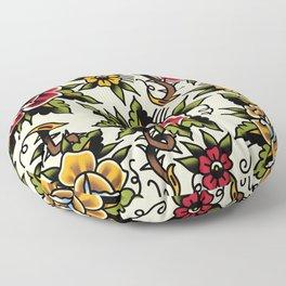 Flower tattoo Floor Pillow
